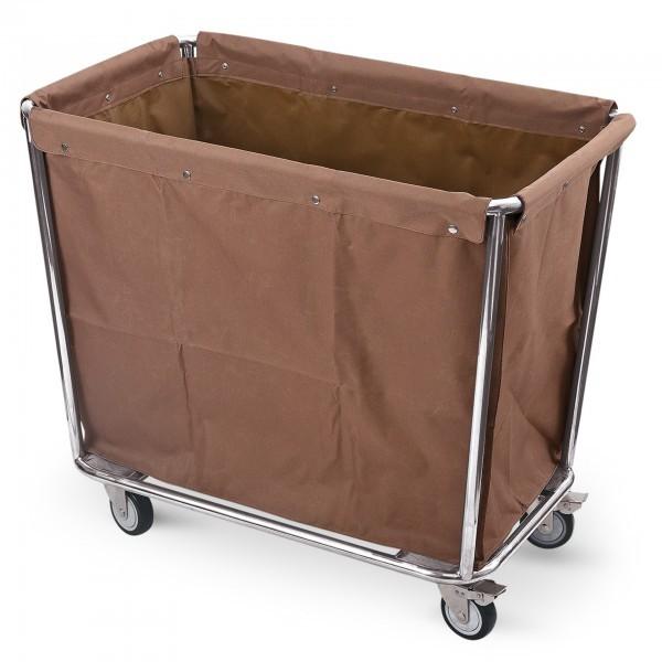 Wäschesammelwagen - Chromnickelstahl - 4 schwenkbare Rollen - extra preiswert