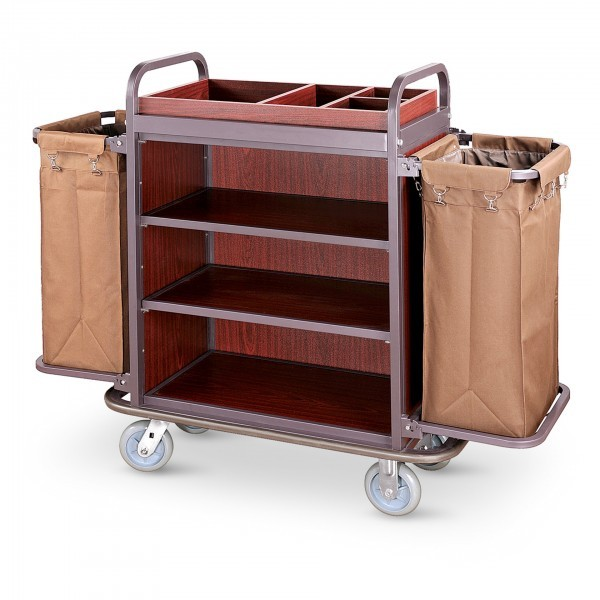 Wäschewagen - Stahlrahmen - 2 Lenkrollen Ø 15 cm - premium Qualität