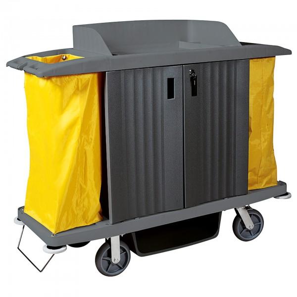 Wäschewagen - Kunststoff - 2 Türen und 2 Wäschesäcke