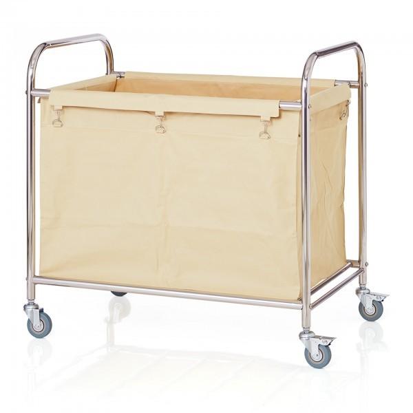 Wäschesammelwagen - Edelstahl - rechteckig - große Ausführung - extra preiswert