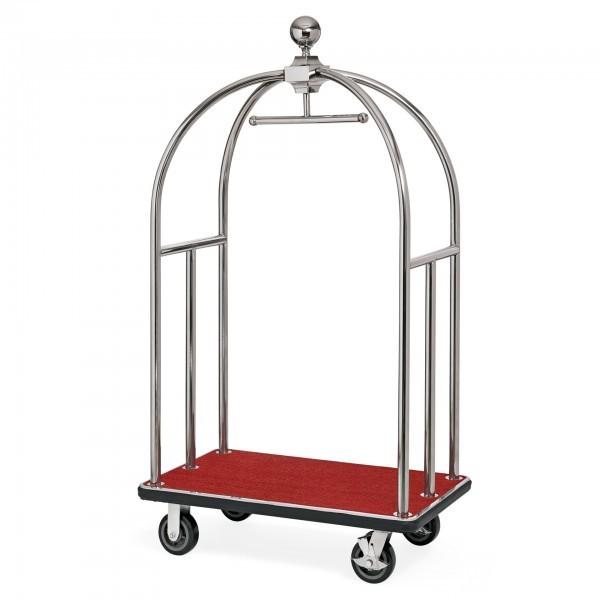 Gepäckwagen - Edelstahl - silber - versch. Teppichfarben - extra preiswert - 4442 000