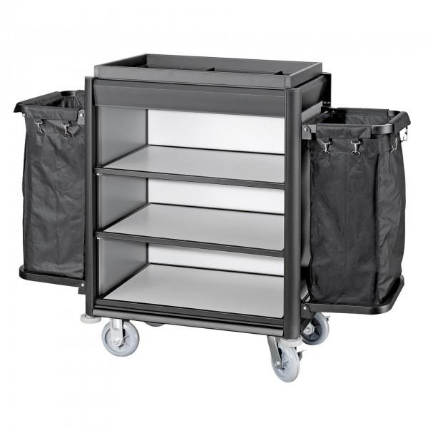 Wäschewagen - Serie Isabella - Aluminium - Aluoptik - schwarze Kantenprofile  - premium Qualität