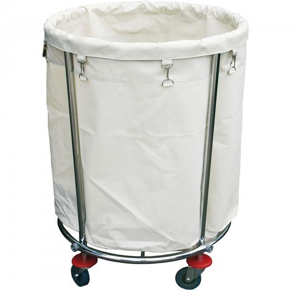 Wäschewagen - Stahl - rund - Stoff-Wäschesack - extra preiswert