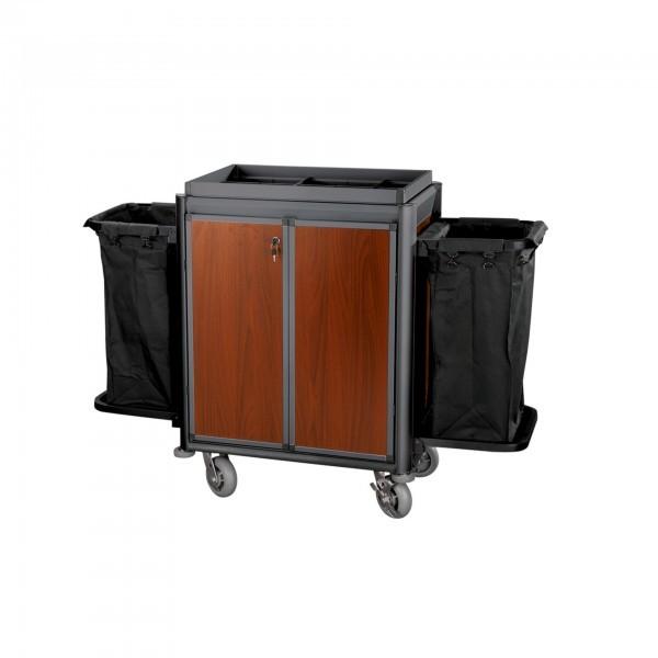 Zimmerservicewagen - Serie Isabella - Aluminium - abschließbare Türen - premium Qualität