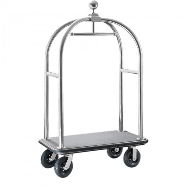 Gepäckwagen - Edelstahl - silber - versch. Teppichfarben - premium Qualität
