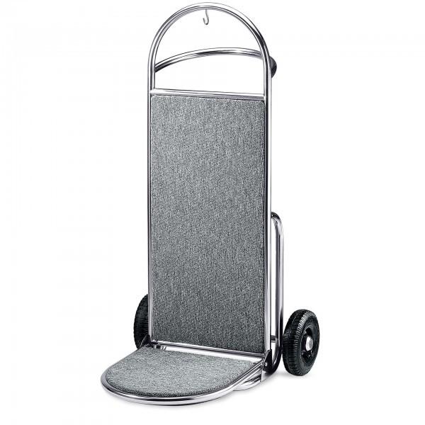 Kofferkarre - Edelstahl - silber - versch. Teppichfarben - premium Qualität - 4426 000