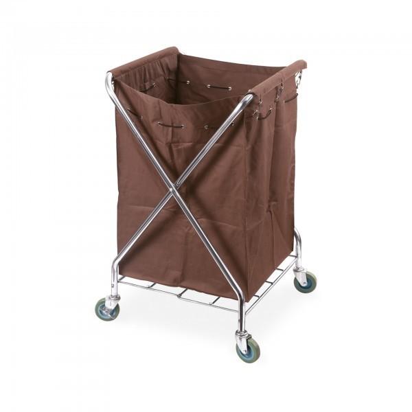 Wäschewagen - Chromnickelstahl - zusammenklappbar