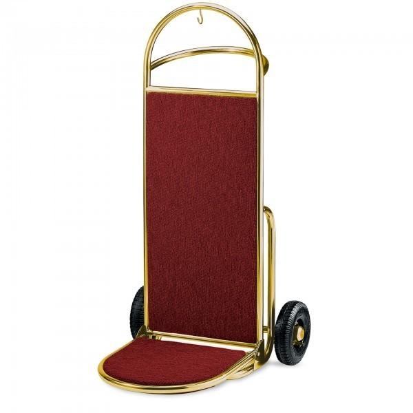 Gepäcktransportkarre - Edelstahl - gold - versch. Teppichfarben - premium Qualität