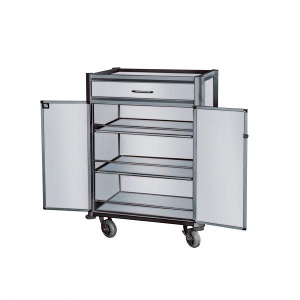Minibarversorgungswagen - Aluminium - abschließbare Türen
