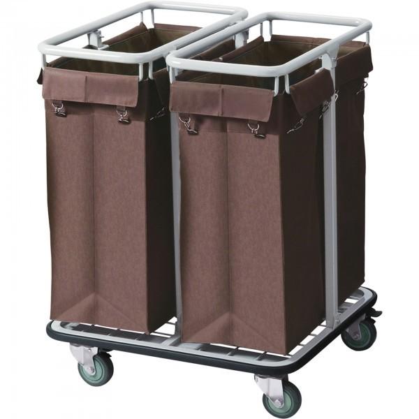Wäschesammelwagen - Stahl - 2 Sammelkörbe