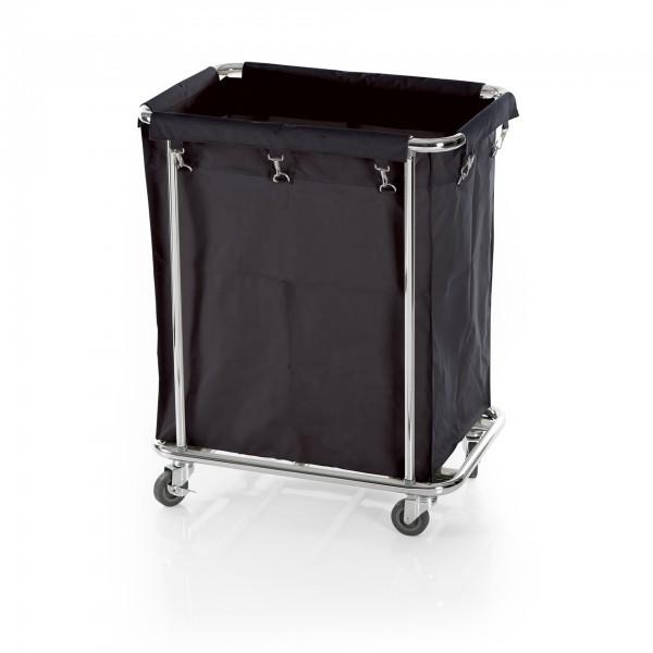 Wäschewagen - verchromt - schwarz - rechteckig