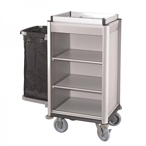 Wäschewagen - Serie Isabella - Aluminium - Aluoptik - helle Kantenprofile - premium Qualität